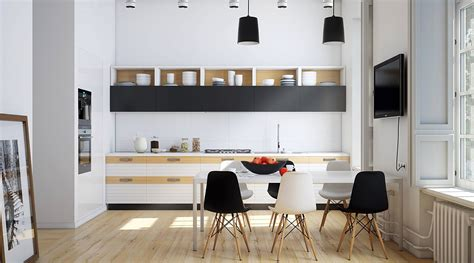 monochrome kitchen design ideas  wow style