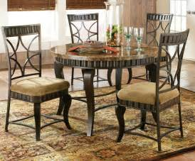 Hamlyn 5 piece marble top 44x44 round dining room set on sale online