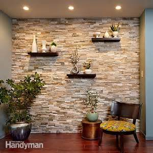 7 chic diy stone and faux stone accent walls shelterness