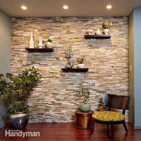 Create a Faux Stone Accent Wall   The Family Handyman