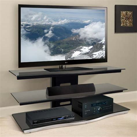 tv stands for 55 inch tv bello modern curved front black glass 55 inch tv stand
