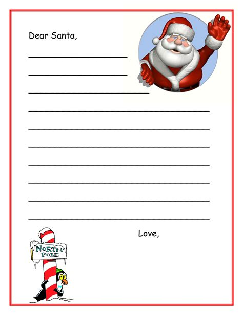 santa template letter to santa template new calendar template site