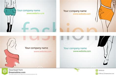 free vector fashion business card templates fashion business cards stock vector image of paper