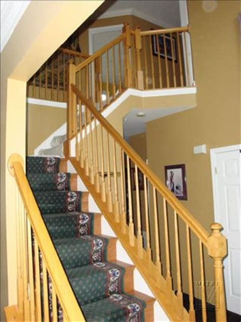 replacement stair banisters stair railing baluster replacement mitre contracting inc