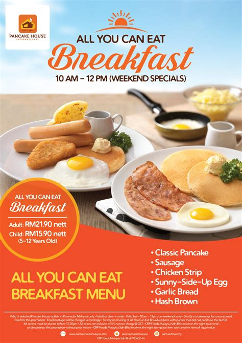 all you can eat breakfast buffet pancake house malaysia all you can eat breakfast promotion