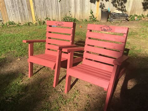 oversized arkansas razorback adirondack chairs custom