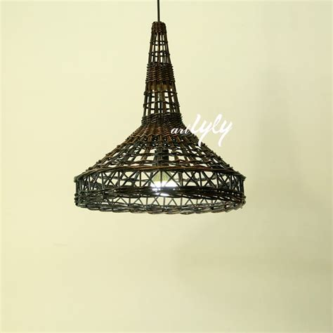 eiffel tower l shade woven wicker l shades in rustic design eiffel tower