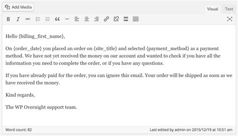 Payment Reminder Letter To Clients creating a woocommerce payment reminder wp overnight