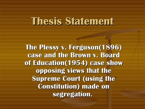 Brown V Board Of Education Essay by Conflicts Of Segregation 2