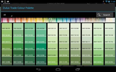 green paint colours dulux