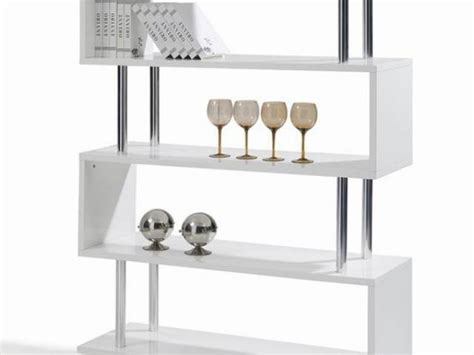 modern bookcase furniture high gloss white lacquer