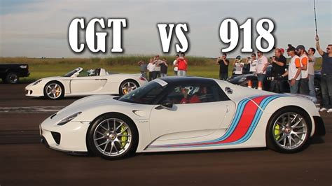 Porsche 918 Vs Carrera Gt by Driver Cup Porsche Carrera Gt Vs Porsche 918 Spyder