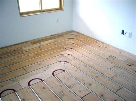 floor heating hardwood installing wood flooring underfloor heating esb
