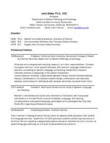 speech language pathology resume latest resume format
