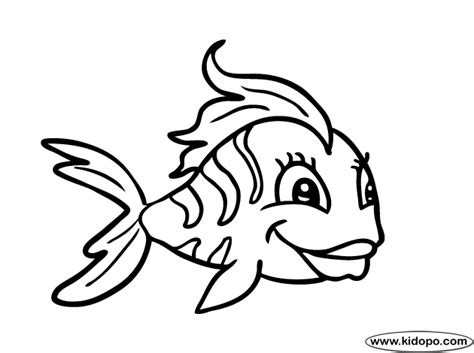 cute fish 2 coloring page
