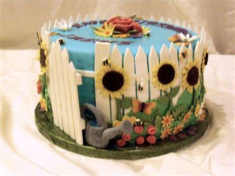 Garden Themed Cake Ideas 210 Best Images About Birthday Cakes For On Cake Central Wedding Anniversary
