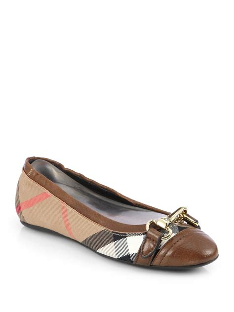 Burberry Shoes Flat burberry ballerinas in brown brown lyst