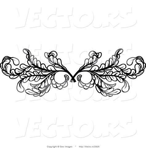 tattoo border designs vector of black leafy swirl butterfly design