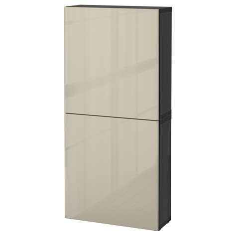 ikea besta wall best 197 wall cabinet with 2 doors black brown selsviken high