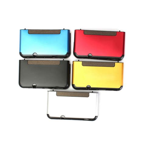 Nintendo New 3ds Xl Whitemetalic Bluered aluminium metal scrub protective shell protector for new nintendo 3ds alex nld