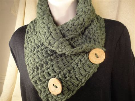 pattern crochet cowl neck scarf crochet scarf cowl neck warmer with buttons in forest