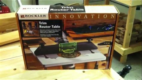 Rockler Trim Router Table by Rockler Trim Router Table Review