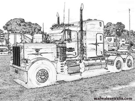 free coloring pages of kenworth drawings
