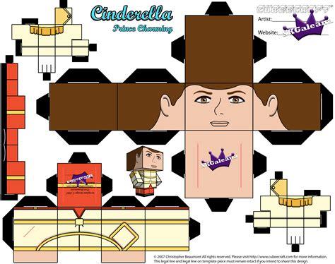 Disney 3d Papercraft - disney s cinderella prince charming cubeecraft papercraft