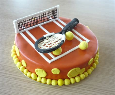 deco gateau tennis