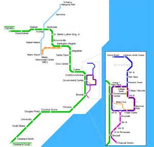 Miami Metromover Map by Miami Metro Map Mapsof Net