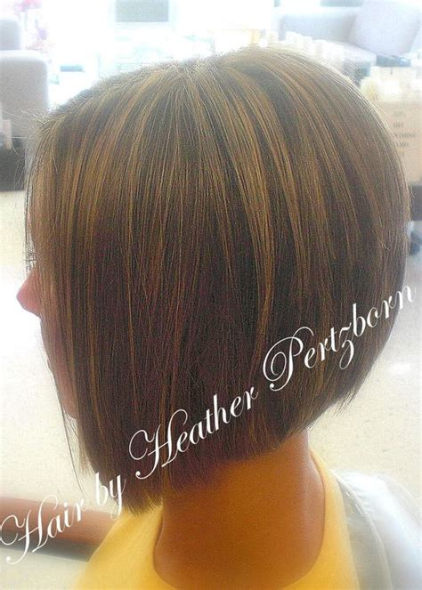 angled bob with height in top angle forward hair stacked in back a line haircut