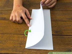 How To Fold A With Paper - 3 ways to fold paper airplanes wikihow