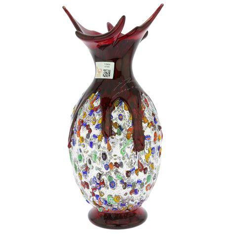 millefiori vase murano glass vases murano millefiori glass spiky