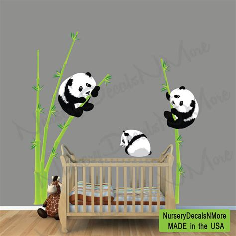 Decals Stickers For Walls panda bear wall decal bamboo wall sticker by