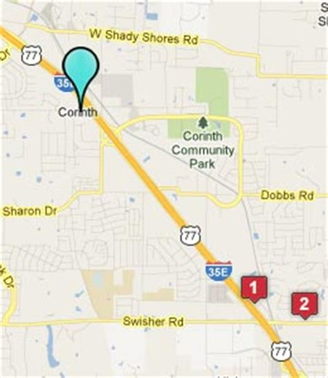 corinth texas map corinth texas hotels motels see all discounts