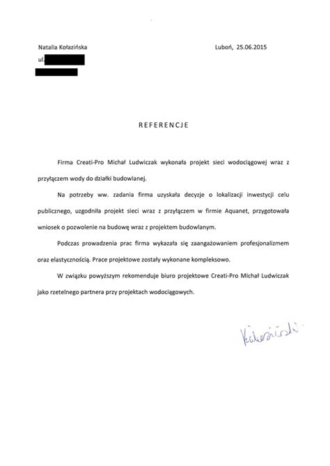 Rejection Letter Not Shortlisted Przy蛯艱cze Wodoci艱gowe Projekt Pozna蜆 Creati Pro