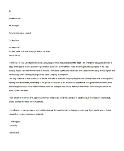 cover letter for applying for a sle cover letter 8 exles in word pdf
