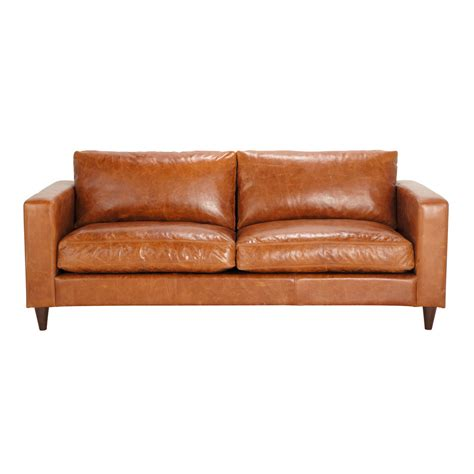 camel leather couch 3 seater leather vintage sofa in camel henry maisons du