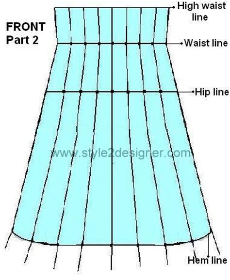 lehenga pattern drafting half paneled anarkali with princess cut bodice draft