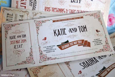 vintage ticket wedding invitations vintage ticket wedding invitations wedfest