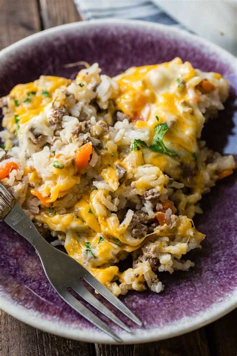 dinner ideas for hamburger meat cheesy ground beef and rice casserole oh sweet basil