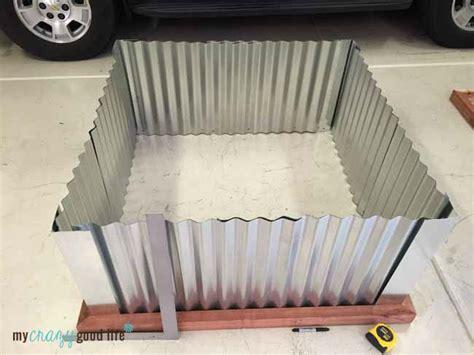 diy raised garden beds  corrugated metal