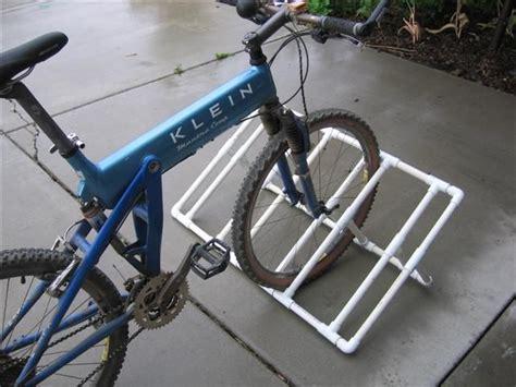 Pvc Bike Rack For by How To Pvc Bike Rack C
