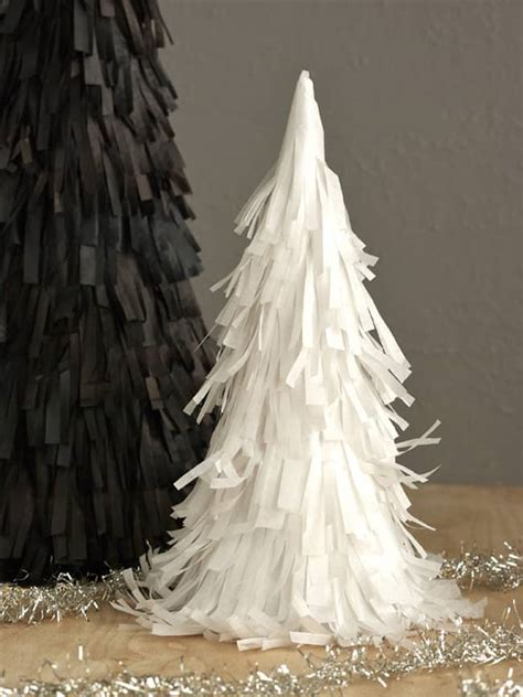 christmas tree tissue paper cone tree craft diy pinata trees hello glow