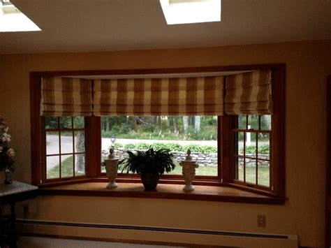 blinds for living room windows hobbled roman shade for bay window