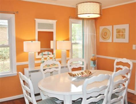 pinturas comedor color naranja para el comedor pintomicasa