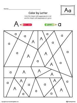 color with letter a uppercase letter a color by letter worksheet letter