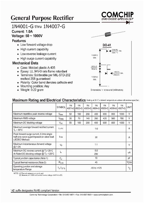 diode rectifier bridge datasheet 1n4007 g 1191674 pdf datasheet ic on line