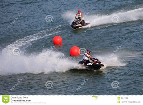 Wasser Motorrad by Water Motorcycle Competition Editorial Photography Image