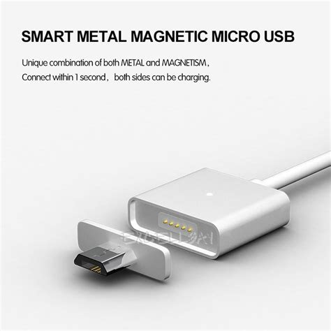 magnetic induction phone charger silver magnetic induction usb charger charging data cable line for andriod phone ebay